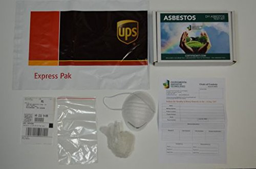 Professional Asbestos 24 Hour Turnaround on Results Do It Yourself Test Kit by EIT – Prepaid Lab Testing and Shipping Perfect for your Home or Business by Environmental Innovative Technologies (Image #1)