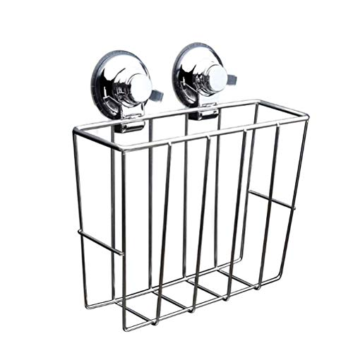 - Toyvian Wall Mount Storage Rack Stainless Steel Shelf for Newspapers Book Magazine File
