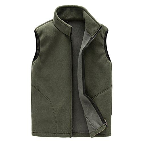 Warmer Gilet Zipper Mens Shell aire Mens Respirable Al Soft ArmyGreen libre Unisex Womens Fleece Sports Zhhlaixing Outwear Body Vest BXq0R