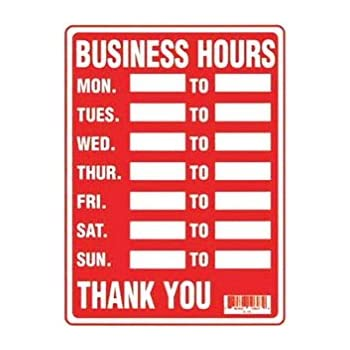 Amazon Com Business Hours Sign Business And Store