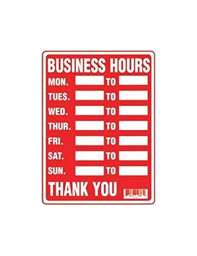 Hours Sign (Business Hours Sign)