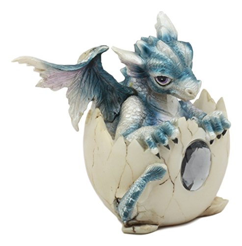 Ebros Twelve Month Birthstone Dragon Egg Statue Set Colored Gem Stone Birthday Dragon Hatchling Figurine Set of 12 for Myths Legends and Fantasy Collectors