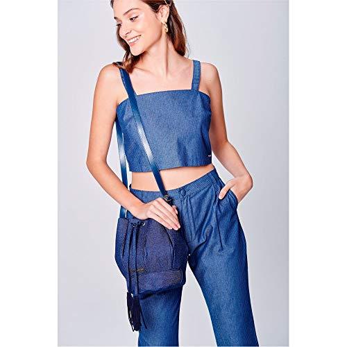 Bolsa Saco Jeans Tam: Uc/cor: Blue