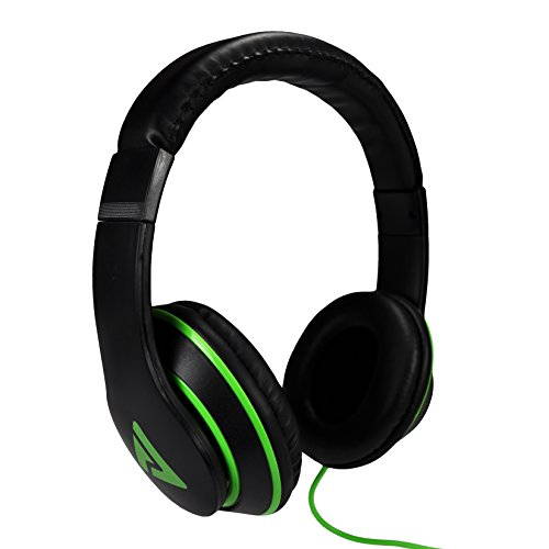 Audio Council Axis Stereo Over-Ear Headphones (Black/Neon Green)