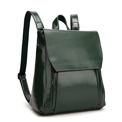 Zaino Fashion PU Backpack Borsa Per Studente Da XZWNB Leather Scuola Green Ladies 5wOqnxEX