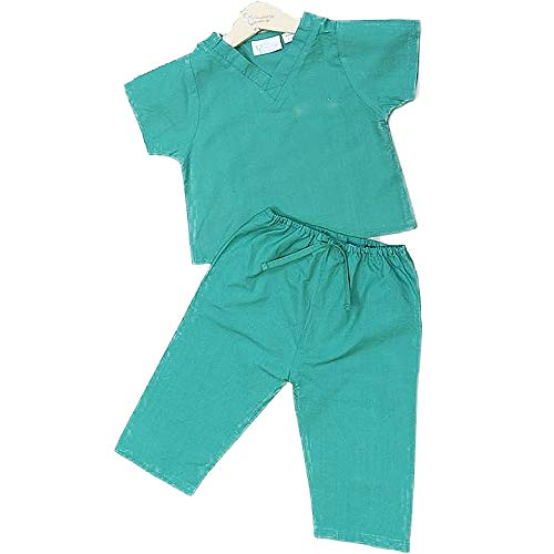 Princess Linens My First Scrubs Lab Green, 12 18 Months -