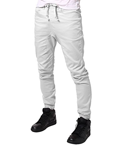 JD Apparel Mens Slim Fit Drawstring Harem Joggers Fashion Pa