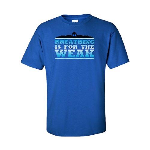 IamTee Breathing is for the Weak T-Shirt-Blue-XL