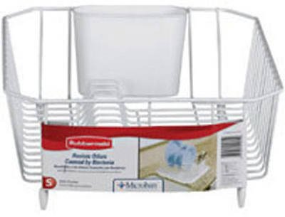 Rubbermaid 6008ARWHT White Twin Sink Dish Drainer ()