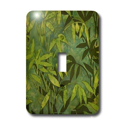 Bamboo Batik (lsp_5254_1 Lee Hiller Designs Batik Print - Emerald Bamboo Leaves Batik - Light Switch Covers - single toggle switch)