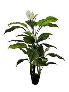 Nearly Natural Anthurium White Artificial Plants 1.3 Meters High For Home Decoration