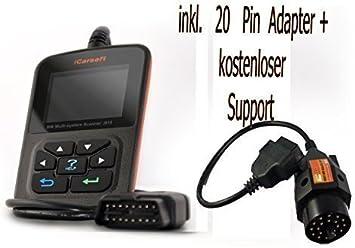 Icarsoft I910 Für Bmw Und Mini Profi Diagnosegerät Inkl 20 Pin Adapter Obd2 Diagnose Auto
