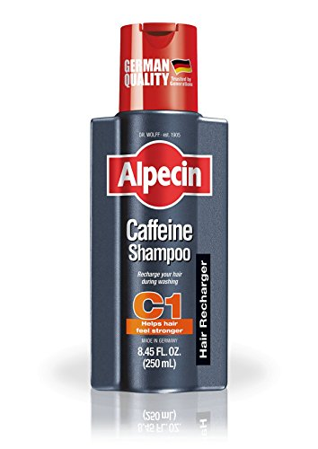 Alpecin C1, Caffeine Shampoo, 8.45 fl oz, Caffeine Shampoo Cleanses the Scalp to Promote Natural Hair Growth, Leaves Hair Feeling Thicker and Stronger