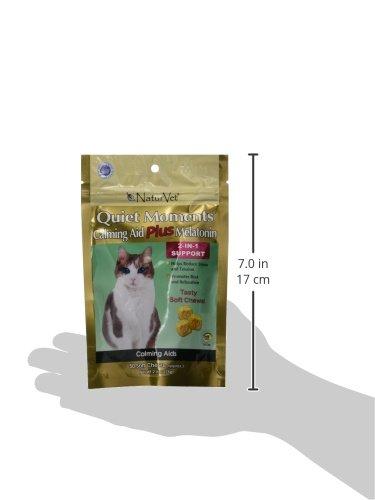 NaturVet 50 Count Quiet Moments Calming Cat Plus Melatonin Soft Chew