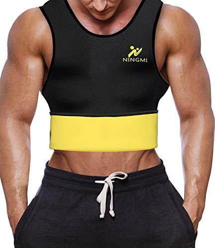 Men Tummy Control Hot Sweat Vest Slimming Sauna Shirt Neoprene Workout Weight Loss Sauna Vest Black