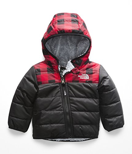 - The North Face Infant Reversible Mount Chimborazo Hoodie - TNF Red Buffalo Check Print - 18M