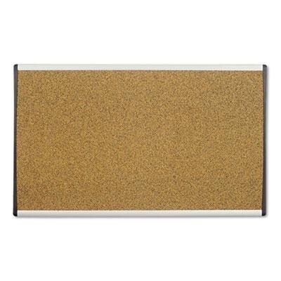 Brand New Quartet Cubicle Arc Frame Colored Cork Board 18 X 30 Tan Aluminum Frame