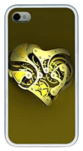 iPhone 4S Cases and Covers - Mechanical Heart Customize TPU Rubber Case for iPhone 4S/4 White