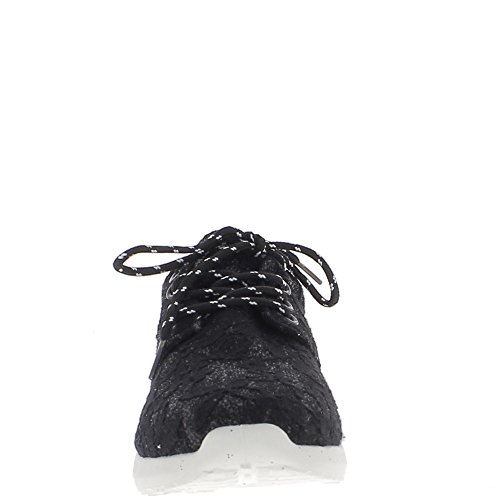 Sneakers D'ape Donna Nido Con 3d Effetto Nero Suola A Spessa AZBxUAw