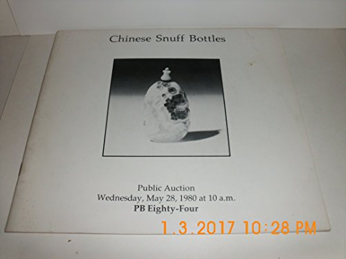 SOTHEBY'S CHINESE SNUFF BOTTLES - SALE 763 - MAY 28, 1980