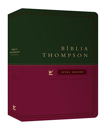 Bíblia Thompson. Letra Grande. Capa Verde e Vinho