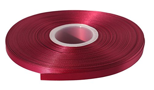 Duoqu 1/4 inch Wide Double Face Satin Ribbon 50 Yards Wine
