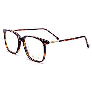 FONEX Prescription Eyeglasses Spectacles Myopia Optical Frames Eyewear TB5203 (leopard, 54)