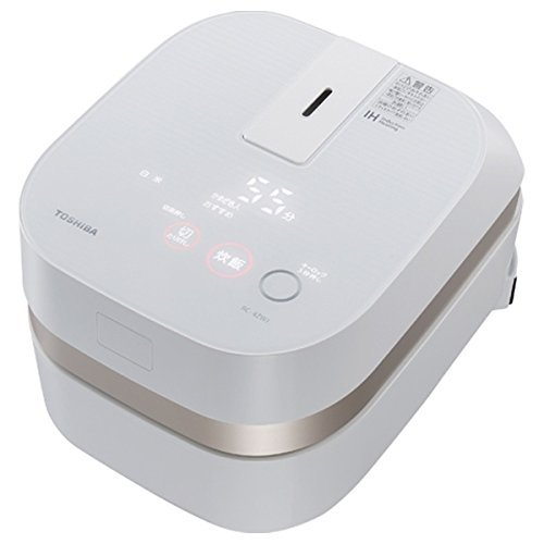 "TOSHIBA IH rice cooker ""charcoal stove this Hagama"" (2.5 Go) RC-4ZWJ-W (Gran White)"