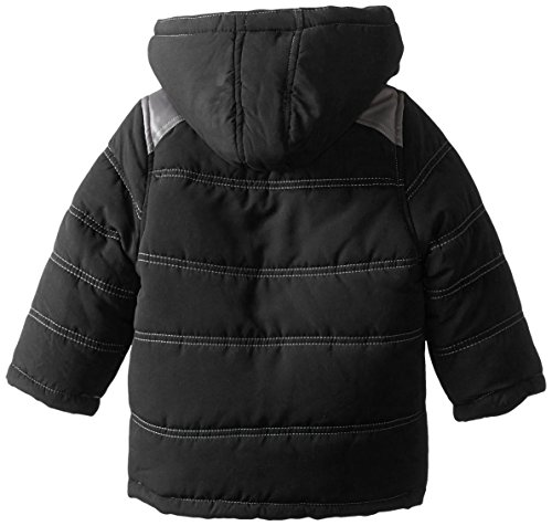 Boys' and YMI Pleather Black Hood with Contrasting Bubble Pockets Jacket Detachable 4dr0dX