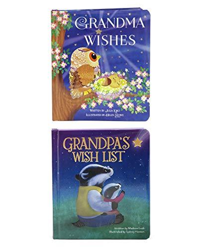 2 Pack Padded Board Books: Grandma Wishes and Grandpa