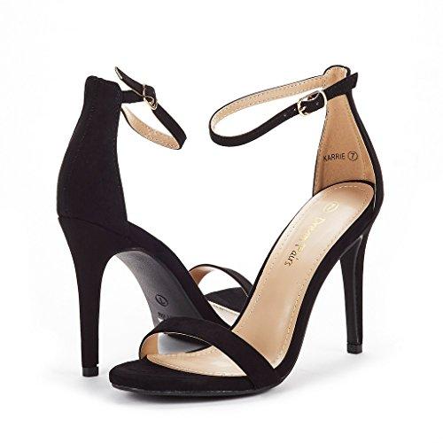 Black DREAM Heel Suede Stiletto PAIRS Karrie High Pump Sandals Women's wT1pFCwxq