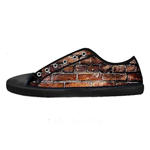 Custom gemauerte Wand Textur Mens Canvas shoes Schuhe Lace-up High-top Sneakers Segeltuchschuhe Leinwand-Schuh-Turnschuhe D