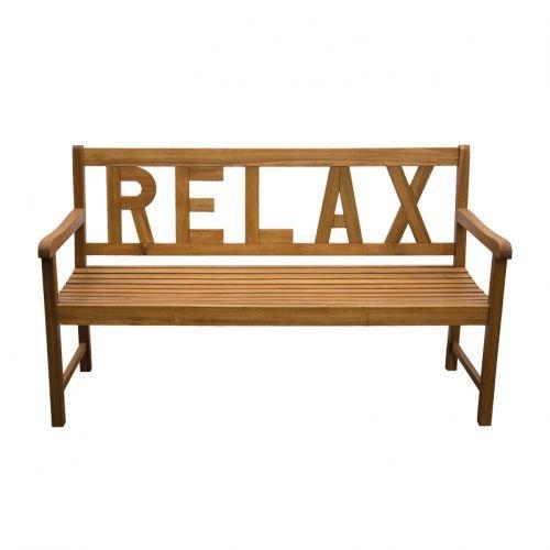 Gartenbank Holzbank Gartenmöbel Sitzbank Relax - 3 Sitzer Parkbank - Akazienholz - widerstandsfähig, robust, rotbrauner Farbton - Indoor Outdoor Bank
