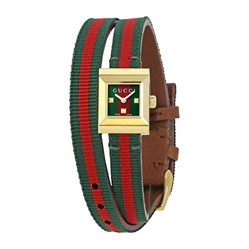 Gucci G-Frame Red and Green Dial Ladies Watch YA128527