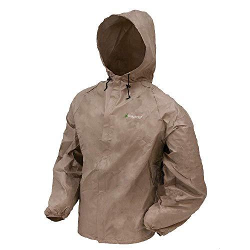 Frogg Toggs Ultra-Lite2 Rain Jacket, Khaki, Size Large