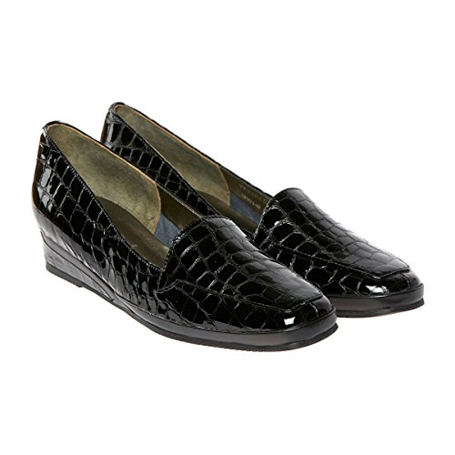 Croc black Verona M Mocassini De Iii Paris Patent Florever dogawa Donna x8avqI