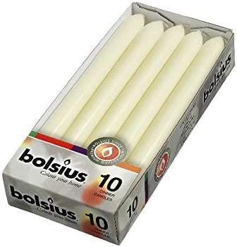 60 stuks Bolsius ivoor dinerkaarsen 23020 7 uur