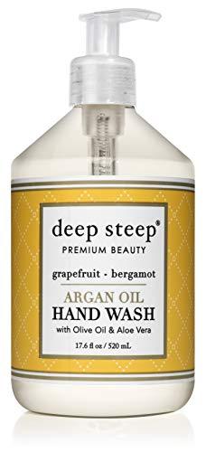 Deep Steep Argan Oil Liquid Hand Wash, Grapefruit Bergamot, 17.6 Fluid Ounce