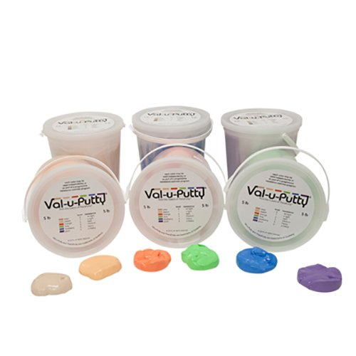 Alimed Val-u-Putty Exercise Putty - 6 Piece Set - 5 lb