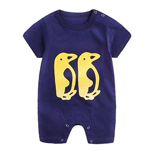 68473cba3496 Vicbovo Clearance Sale!! Baby Infant Boy Girl Short Sleeve Cartoon Print Jumpsuit  Romper Pajamas