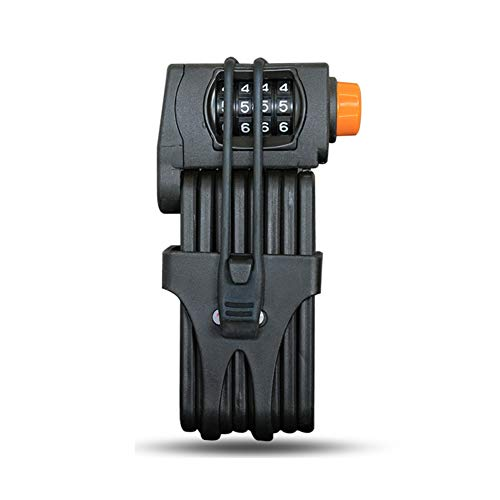 MloKfjh 4-Digit Resettable Combination Foldable Bike Locks Mounting Bracket, Heavy Duty Motorcycle Padlock Weight 2.2 Lb - Anti-Hydraulic Clamp -a 88cm(35inch)