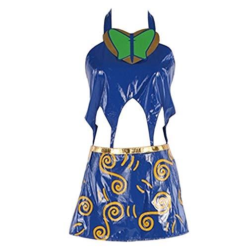 CosplayDiy Women's Suit for JoJo's Bizarre Adventure Jolyne Cujoh Kujo Cosplay Costume M Blue