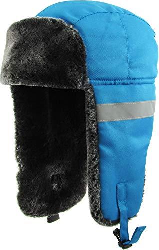 KBW-631 BLU Soft Fur Trapper with Reflective Strip
