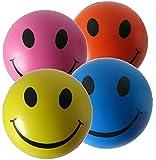 Balle Anti Stress - Lot de 4 balle de stress (rose, jaune, bleu et orange) parfait pour évacuer le stress/anxiété