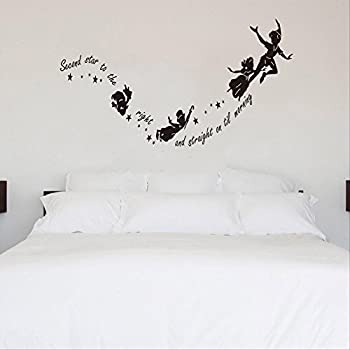 Attractive Tinkerbell Second Star To The Right Peter Pan Wall Decal Sticker Kids Art  Mural Part 15