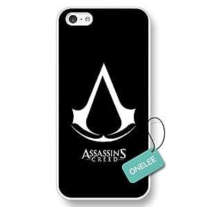 Onelee(TM) - Assassins Creed Logo White Hard Plastic iPhone 5c Case & Cover - Assassins Creed Logo iPhone Case - White 1