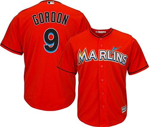 Outerstuff Dee Gordon Miami Marlins MLB Majestic Youth 8-20 Orange Alternate Cool Base Replica Jersey (Youth Large 14-16) ()