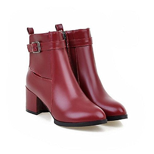 Botas de otoño e invierno tacón Martin con el estilo retro de viento bota mujer botas red