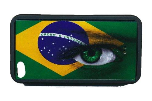 Housse Coque Gel Bresil pour Iphone 4 4S aux couleurs du Mondial 2014