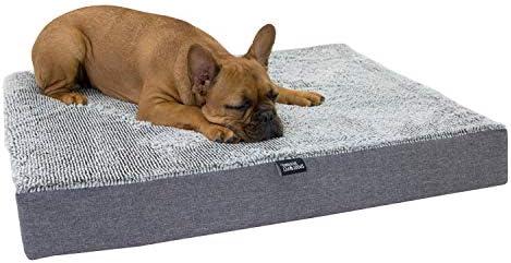 SportPet Designs Deluxe Dog Mattress, Water-Resistant Liner Pet Bed, Reversible, Top Memory Foam